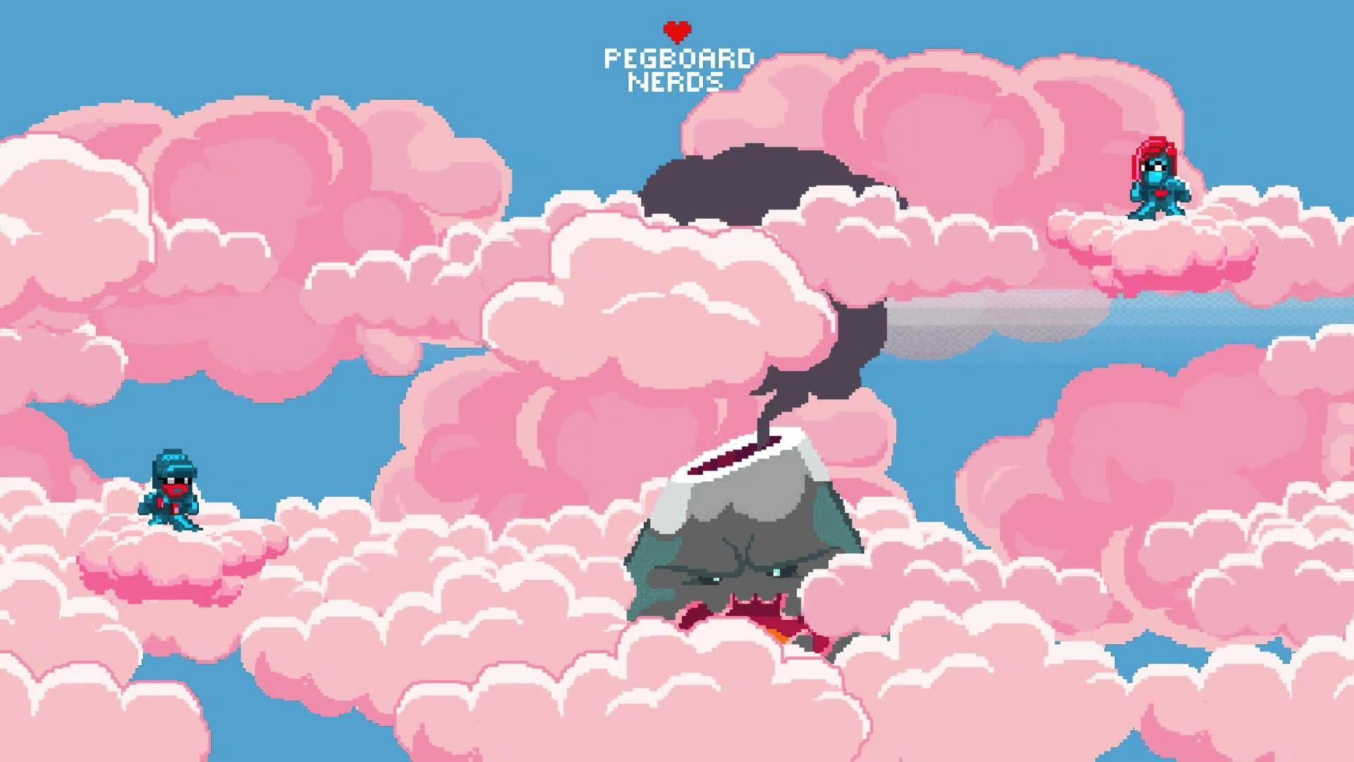 Pegboard Nerds Pink Cloud Wallpaper