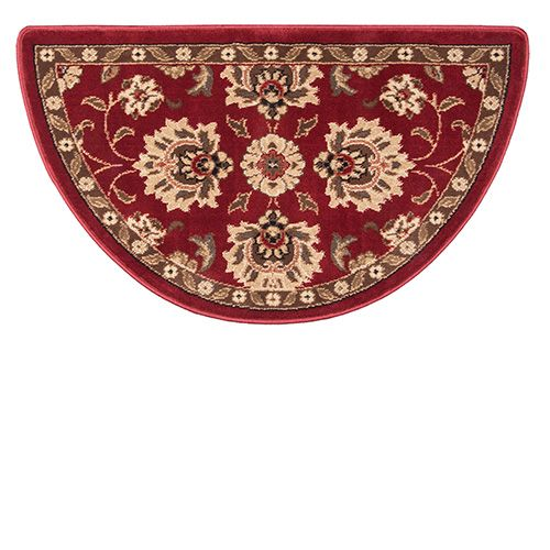 Goods Of The Woods Regal Wine Oriental Half Round Olefin Hearth Rug 25 Inch X