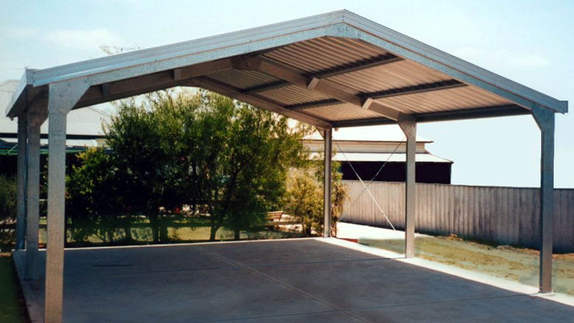 Image result for free standing steel carport plans