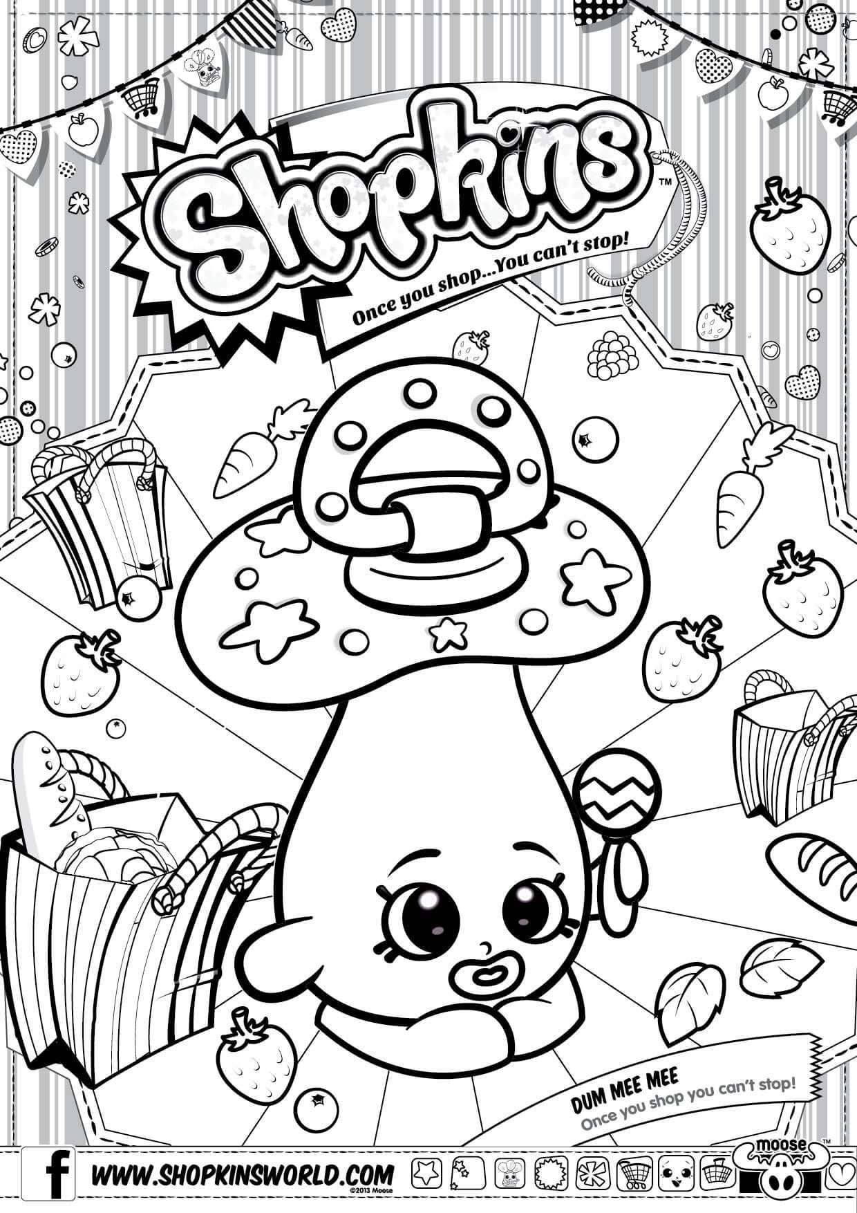 Shopkins coloring pages polly polish - Shopkins Coloring Pages Season 2 Dum Mee Mee