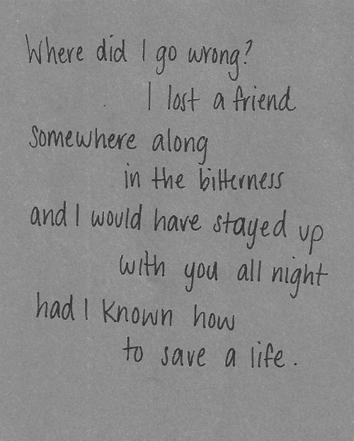 The fray how to save a life words pinterest letra de msica the fray how to save a life ccuart Images