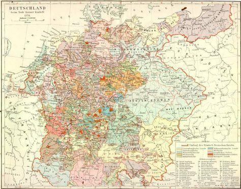 Deutschland Im Mittelalter Karte Karte Deutschland