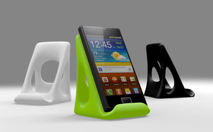 Awesome 3D printed smart phone stand by Cubify member