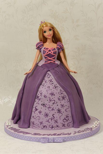 Princess Doll Cake Cakes For Kids Pinterest Rapunzel Cake
