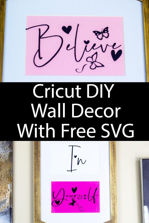 Cricut diy wall decor with free svg diy wall decor diy