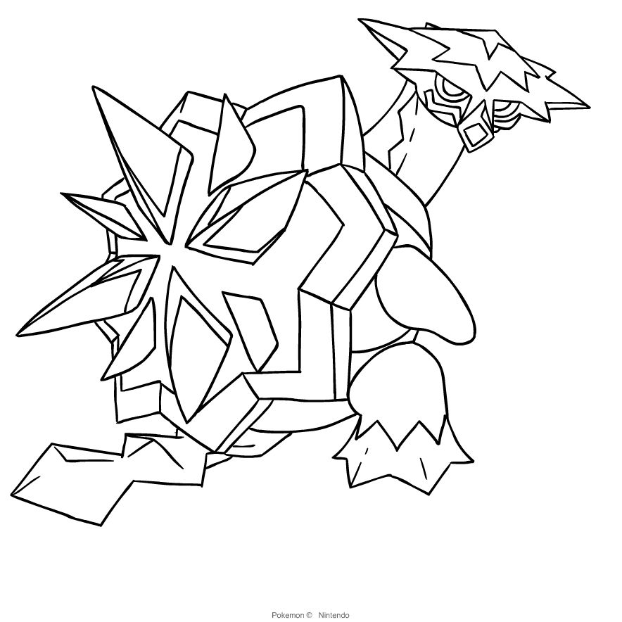 Pokemon Ultra Beast Coloring Pages List Background