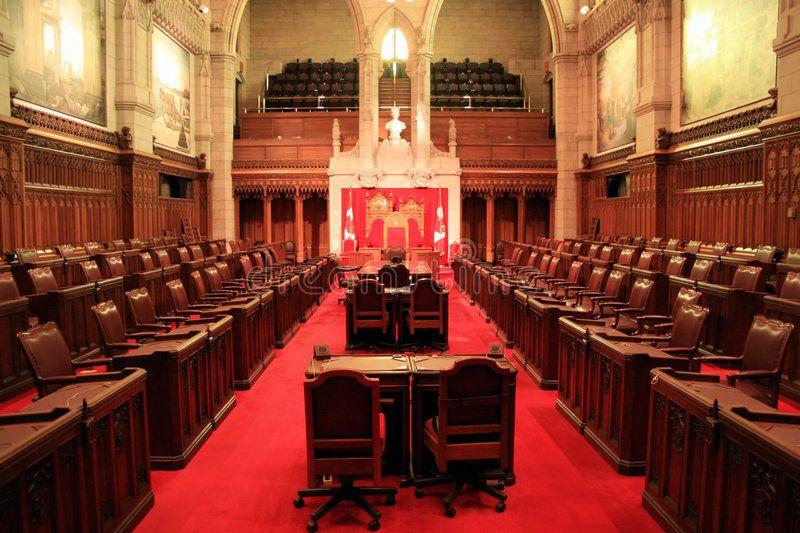 The Senate Chamber, Ottawa. The Canadian Senate Chamber