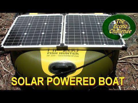 Solar Powered Boat Econo Challenge Youtube Solar Panel 80 Watt 4 Amp Model Zs 80 P Cyclic Agm Battery Block 12 Solar Solar Power Solar Power System