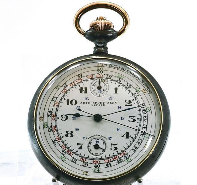 MINERVA,Chronograph ca. 1911,Kaliber 19-9-CH,Autosport SENN,Paris