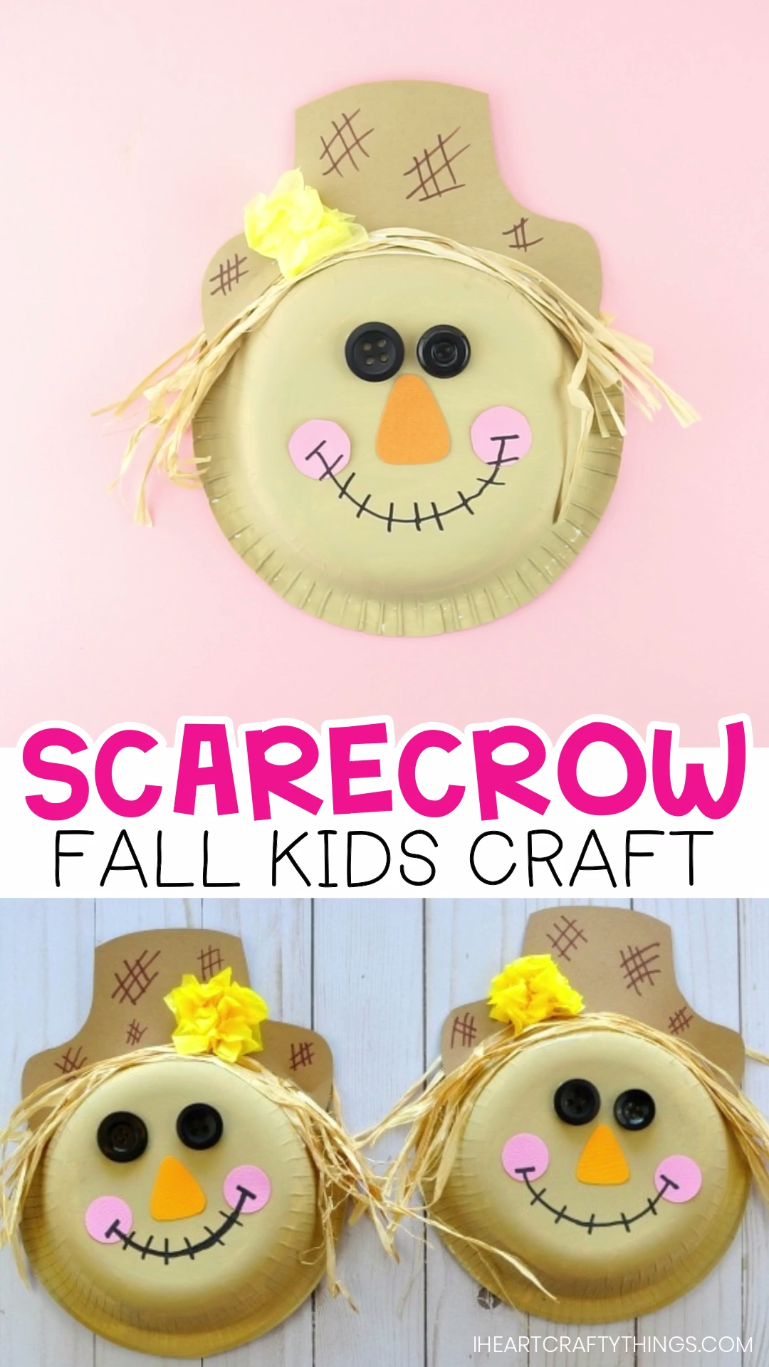How to Make a Paper Bowl Scarecrow Craft