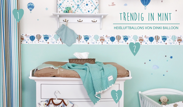 babyzimmerideen bei fantasyroom babyzimmer mit bord ren in mint gestalten m bel pinterest. Black Bedroom Furniture Sets. Home Design Ideas