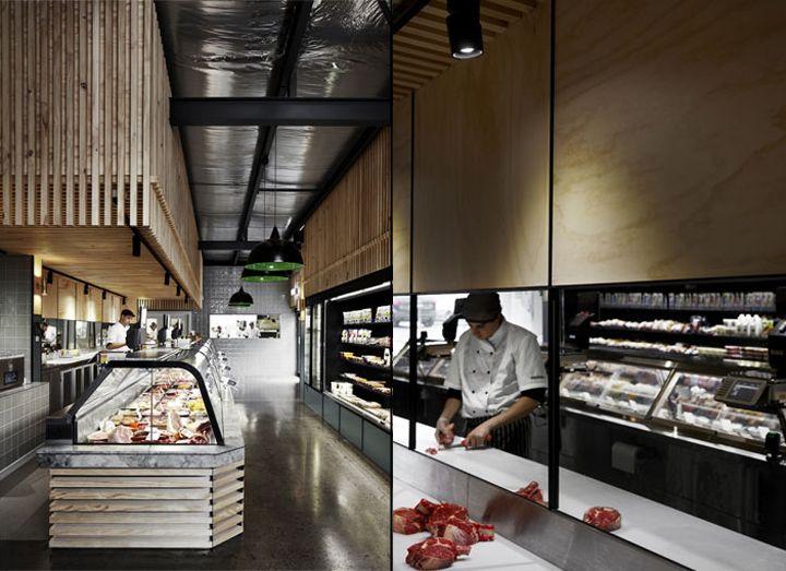 Интерьер уютного кафе и магазина Cannings Free Range