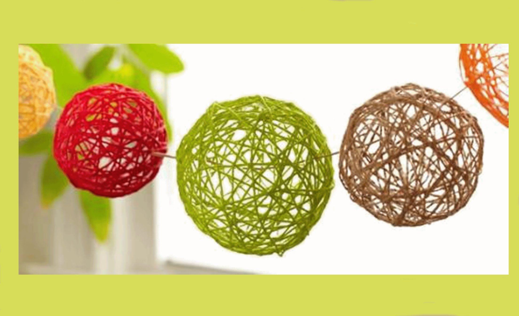Diy Home Decor Projects For Summer  Diy Yarn Balls