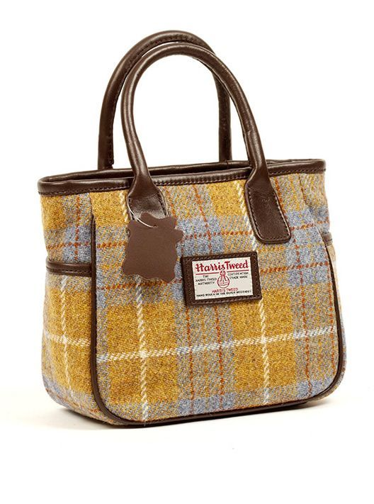 Harris Tweed Mull Handbag Size 9 X 8 4 Fabrichandbags