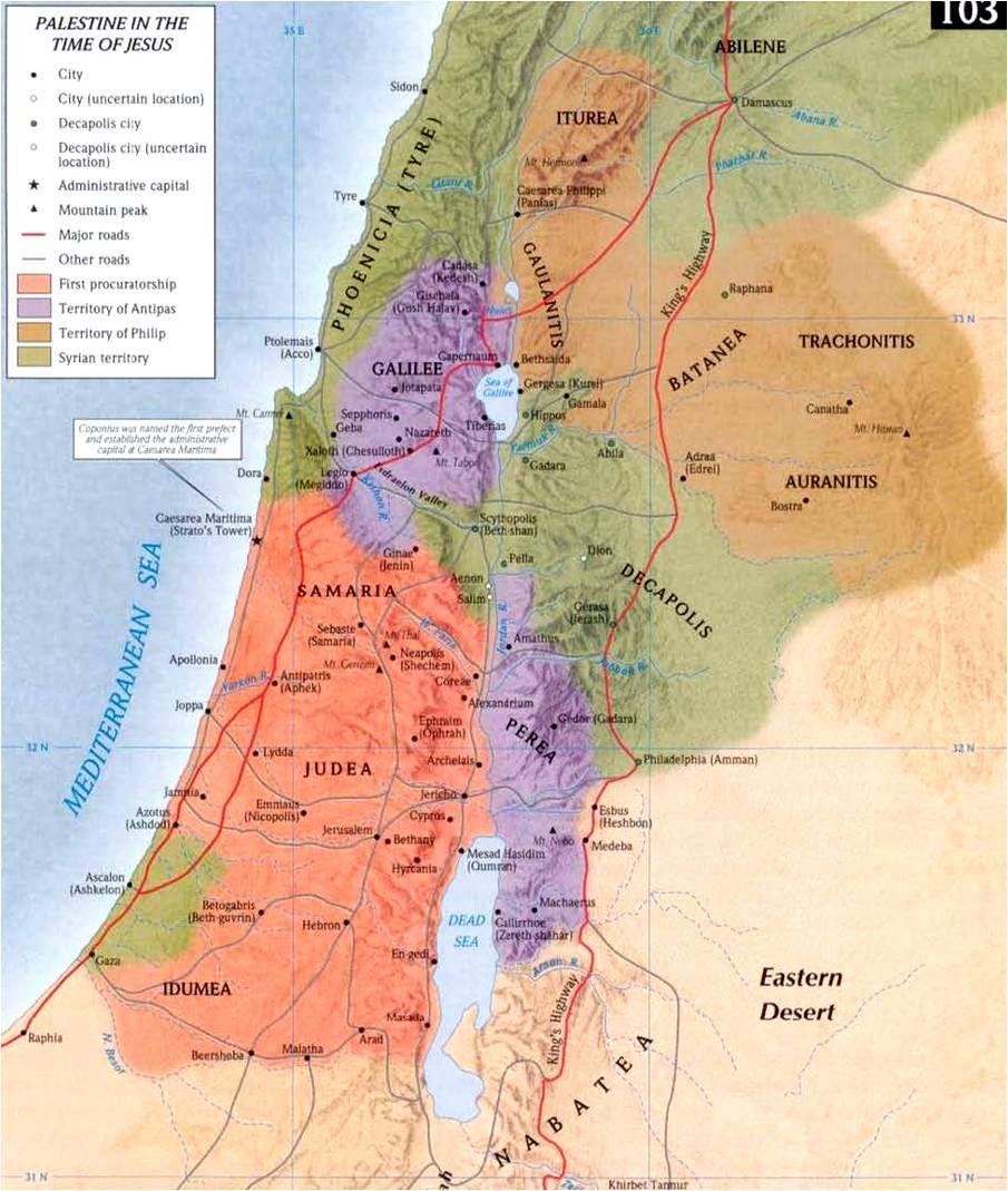 Palestina Nos Tempos De Jesus Antiguidade Hist 243 Ria
