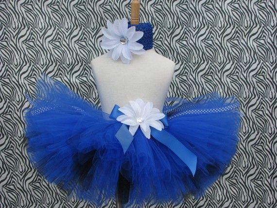 Royal blue rocker girl tutu with crochet headband by sophiastutus, $26.00