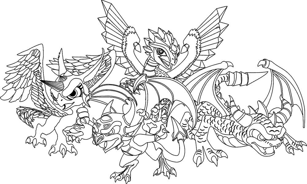 Family Dragon Coloring Page Dragon Coloring Page Detailed