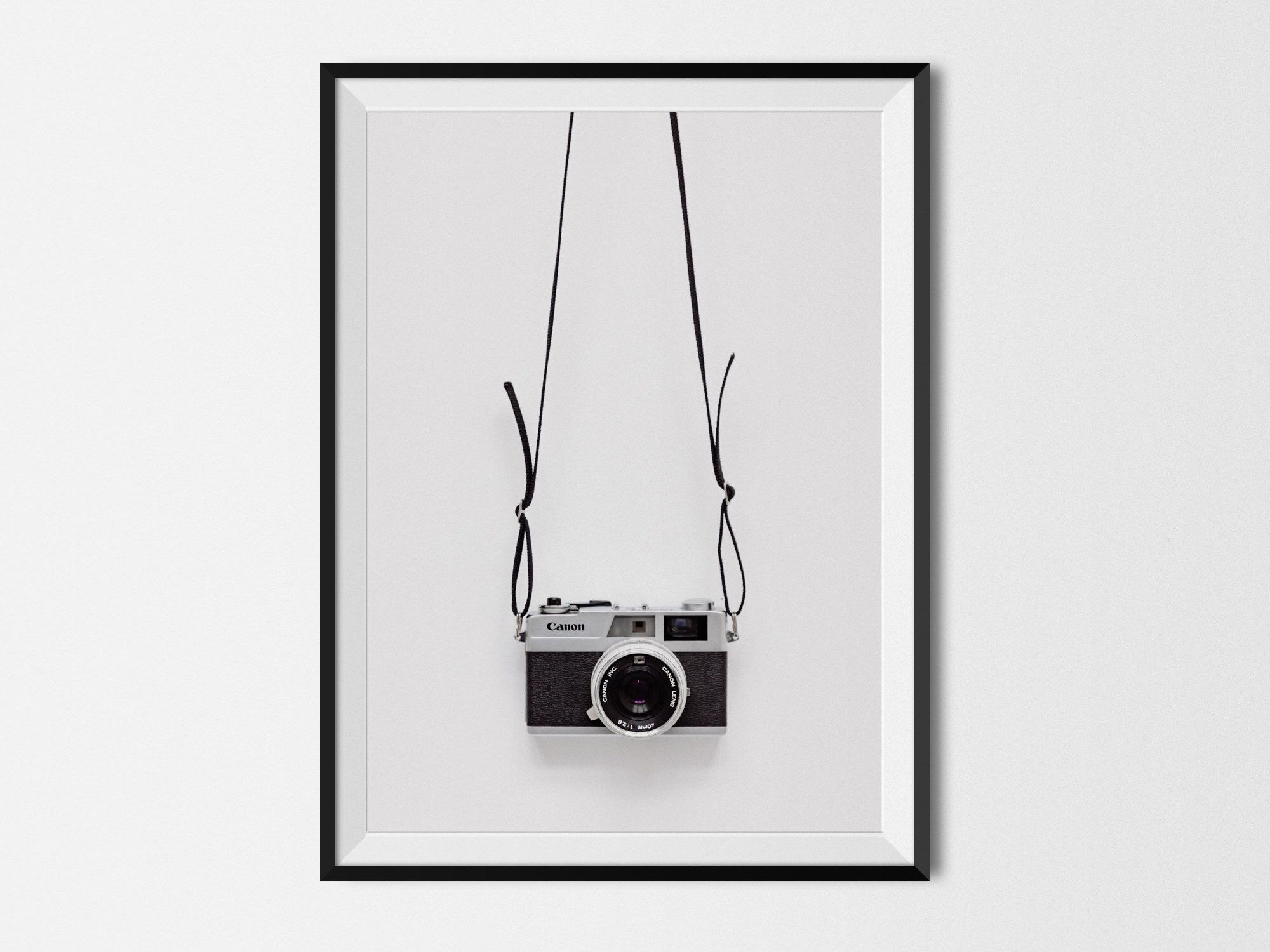 Minimalist Photographic Art Print Canon Camera Cool Black Etsy Photographic Art Modern Poster Art Prints