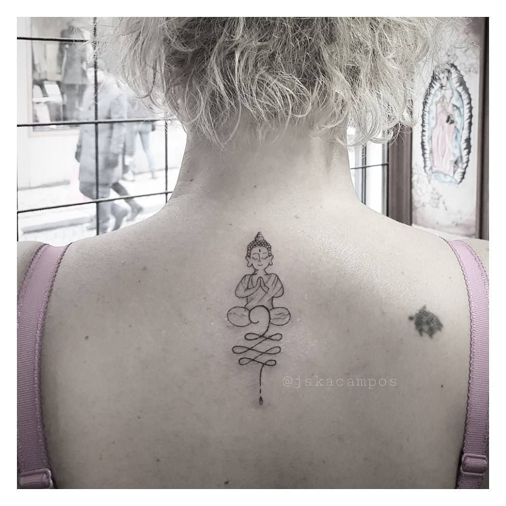 Cute And Feminine Buddha Created And Tattooed By Jessika Campos
