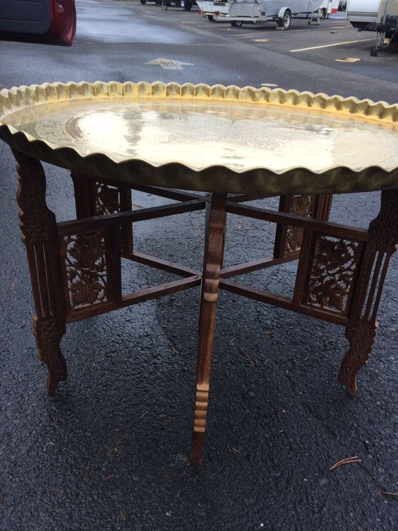 India Tray table 1960's by TradedSentiments on Etsy