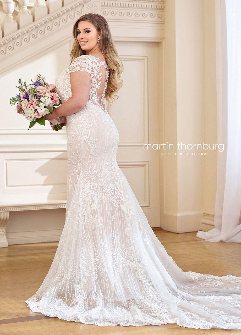 1962b29dda3 119269W Martha - Plus Size Romantic Lace Wedding Dress - Mon Cheri ...