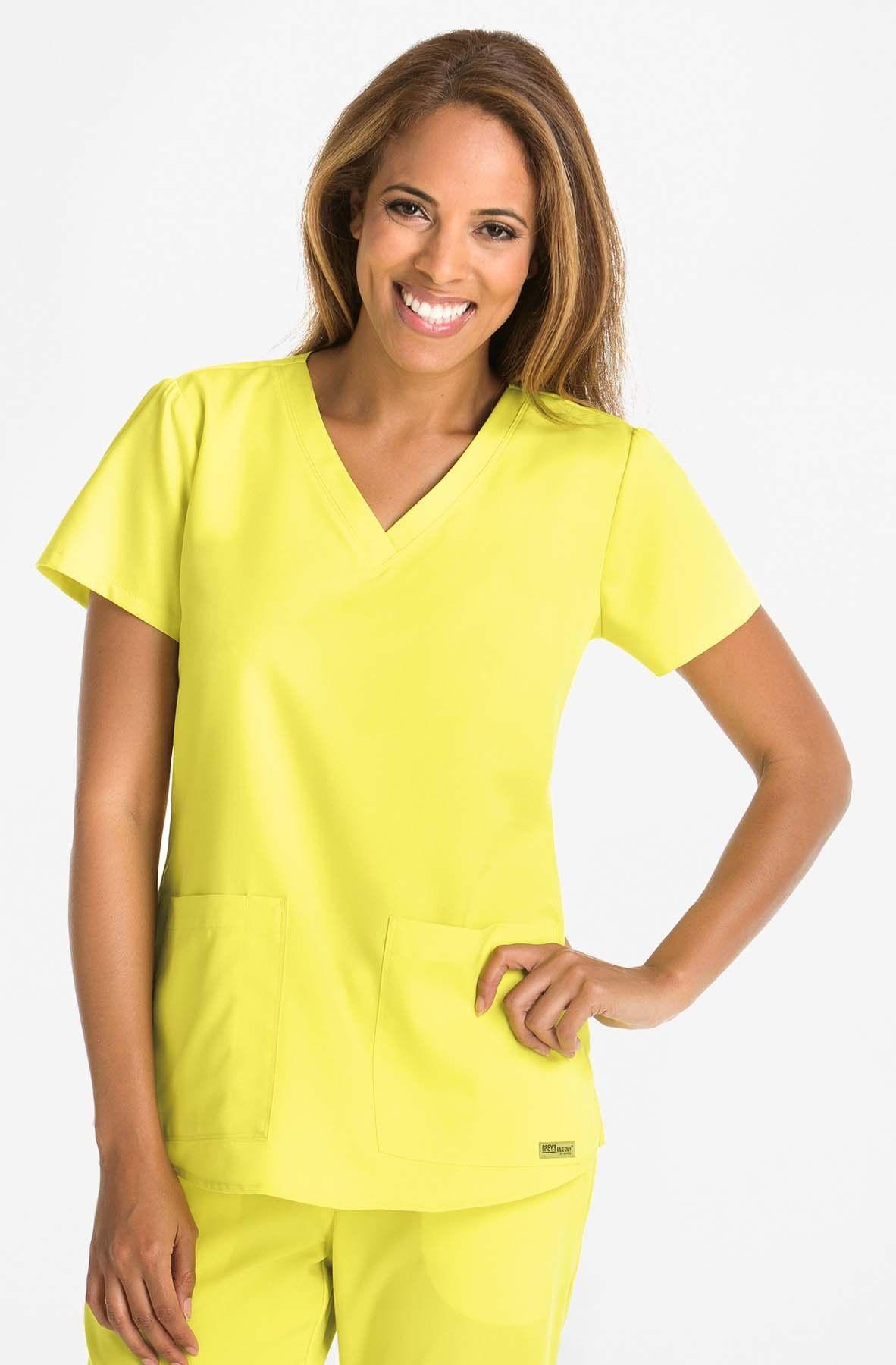 9f9cd61446b 2-Pocket V-Neck Top | Grey's Anatomy by Barco | Scrubs, Greys ...