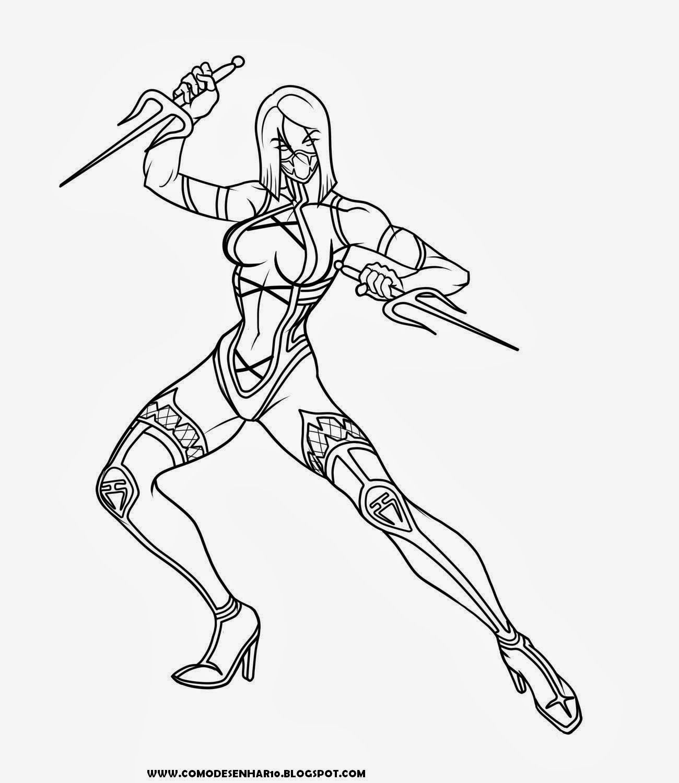 9desenhos Do Mortal Kombat Para Colorir Comodesenhar10 Blogspot