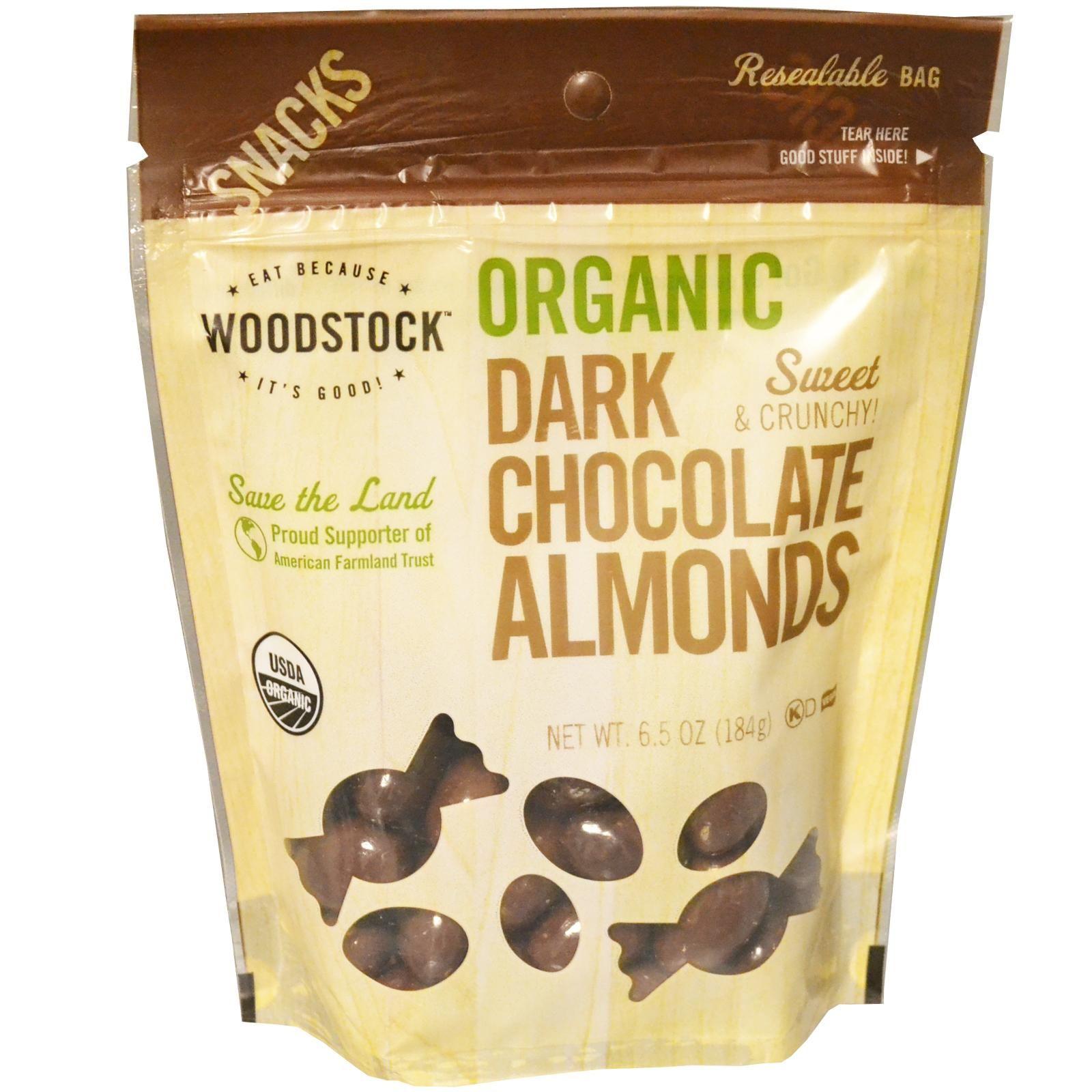 Woodstock dark chocolate almonds | Dark chocolate almonds ...