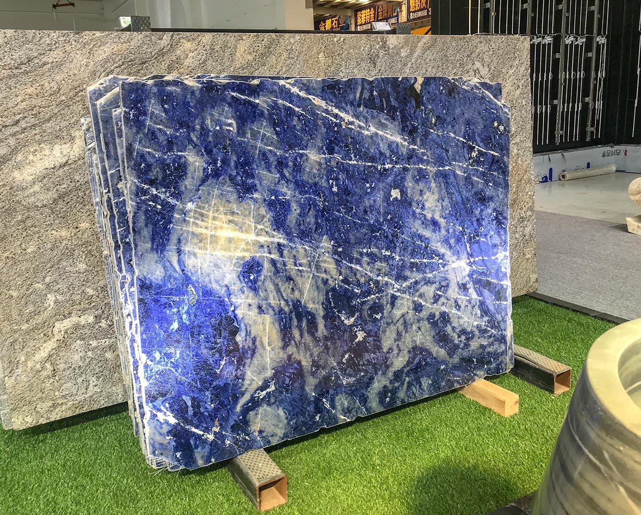 A Look At Blue Bahia Granite It S So Beautiful We Can T Stop Looking Blue Granite Countertops Granite Countertops Kitchen Granite