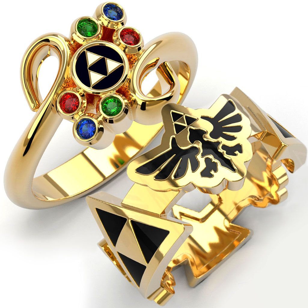 Princess Zelda Jewelry: Want These, Not As Wedding Bands, But Just Nerd Jewelry