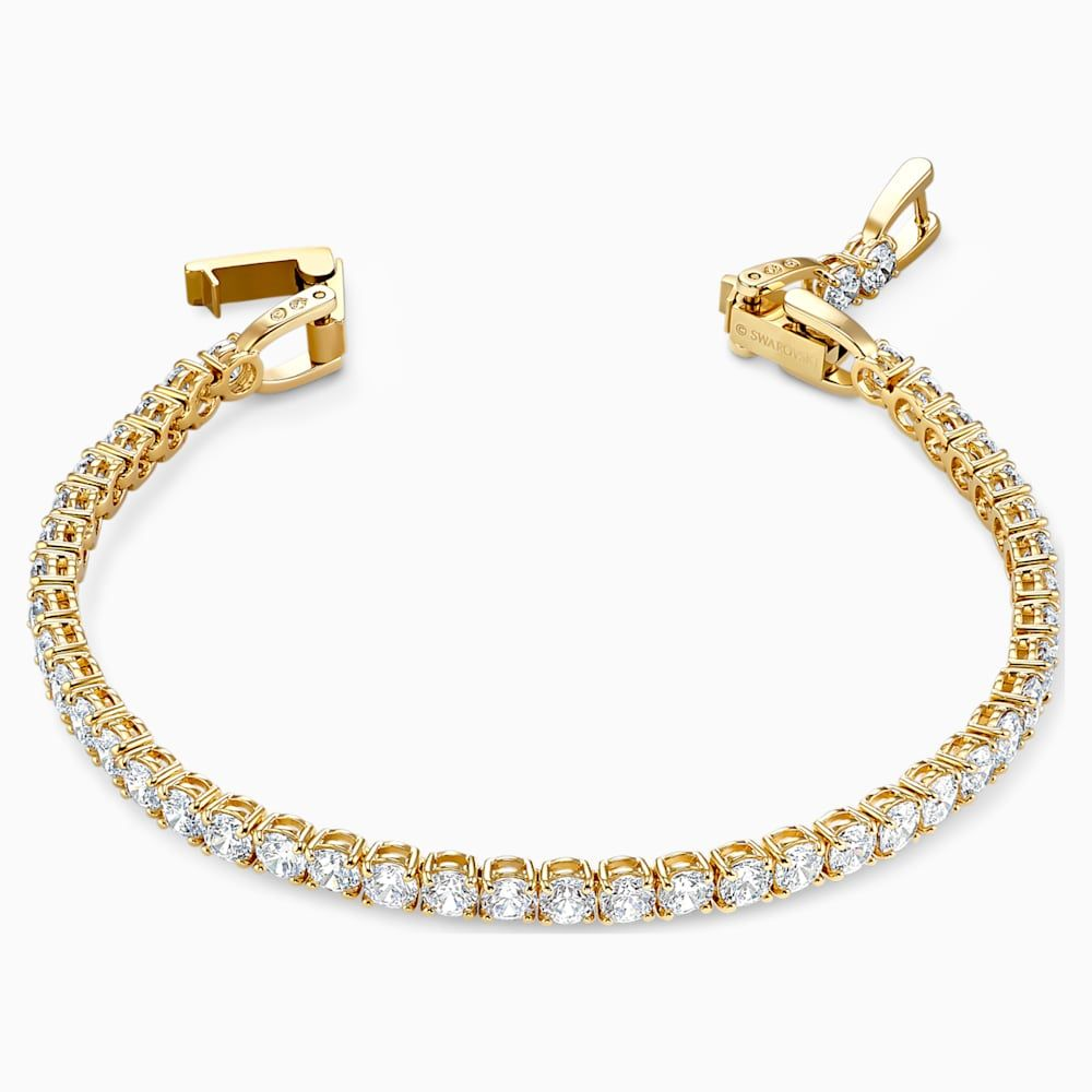 Tennis Deluxe Bracelet White Gold Tone Plated By Swarovski In 2020 Swarovski Gifts Swarovski Bracelets