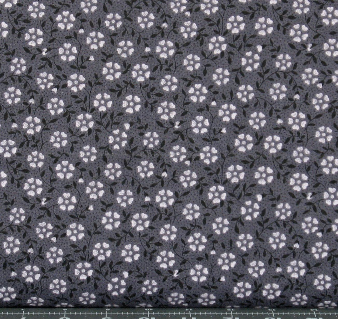 Little Flower in Black Cotton Quilt Fabric for Sale, Marshall Dry ... : quilting fabric sale - Adamdwight.com