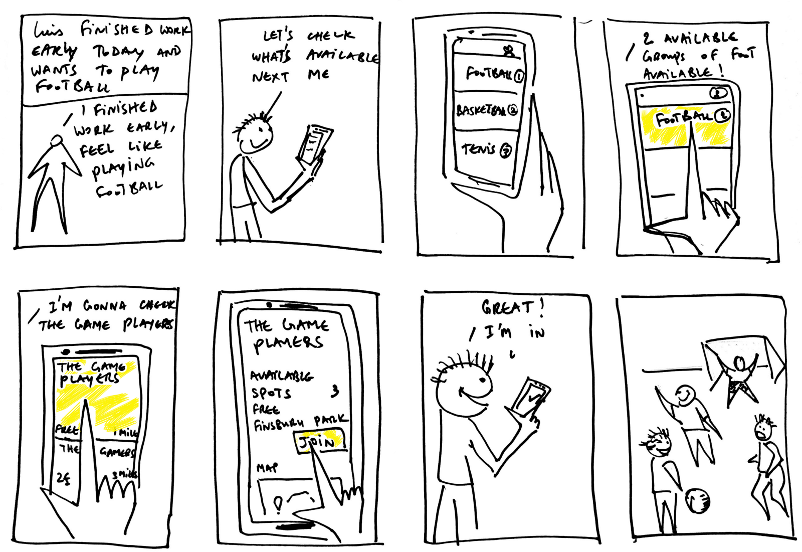 An example of the types of storyboards we ask our clients