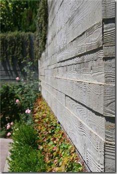 Faux Bois False Wood North Coast Gardening Concrete Retaining Walls Concrete Garden Stamped Concrete Patio