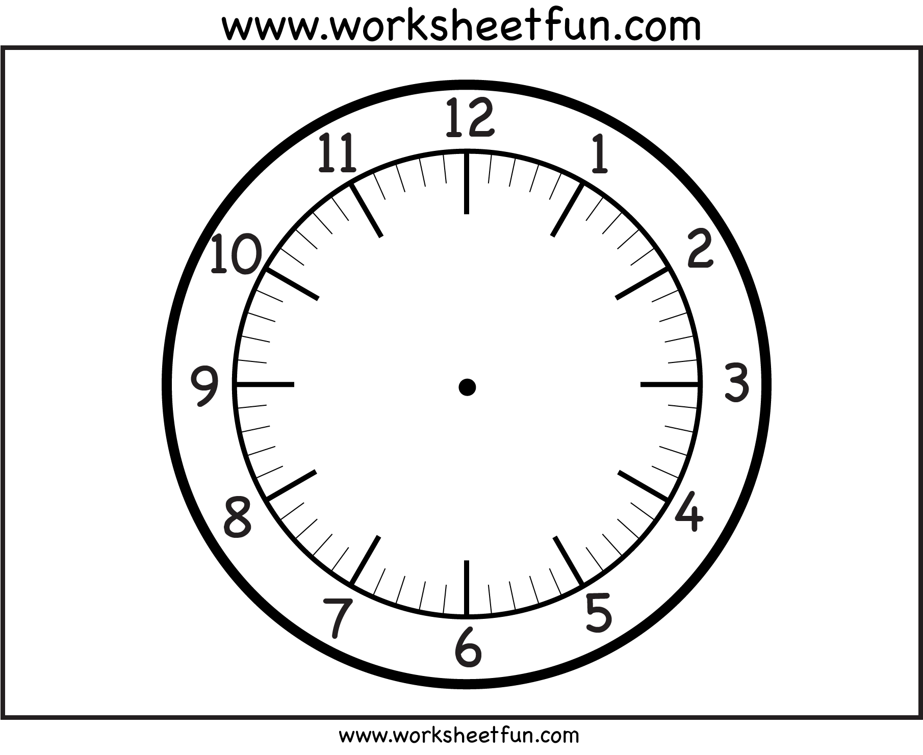 clock face Printable Worksheets Pinterest – Clock Face Template
