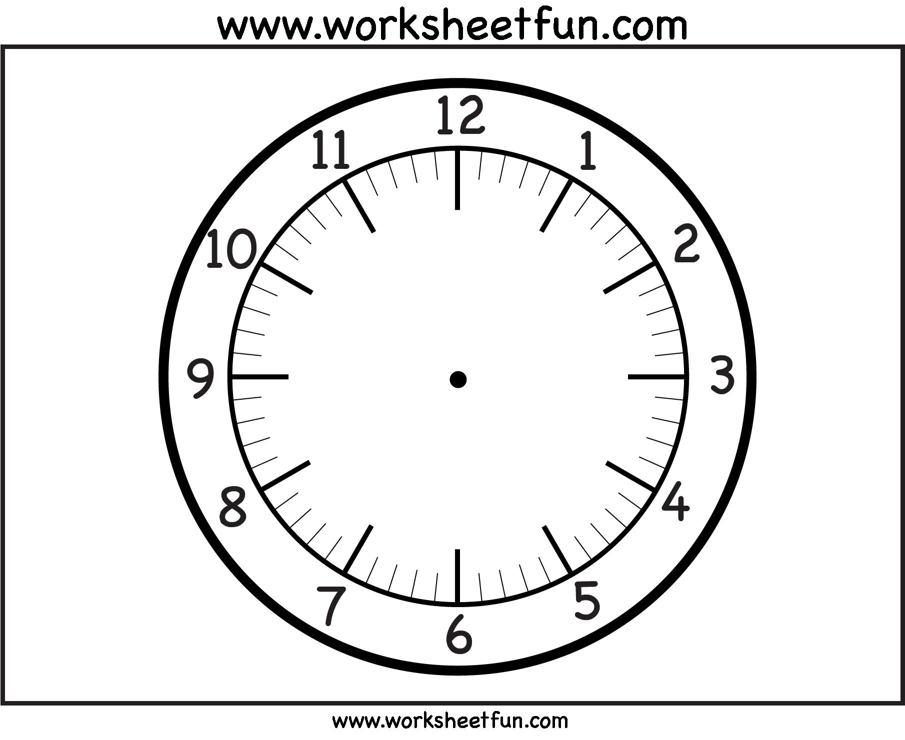 Clock Face Printable Worksheets