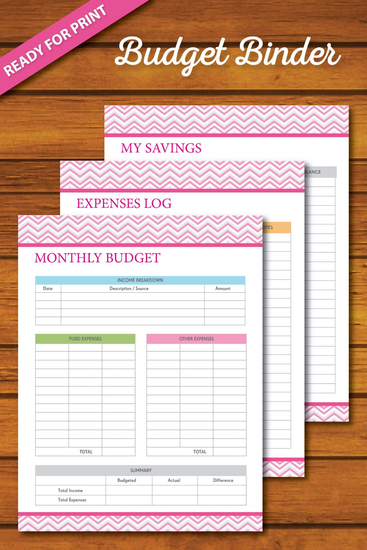 Free 365 Day Budget Binder Living Frugally