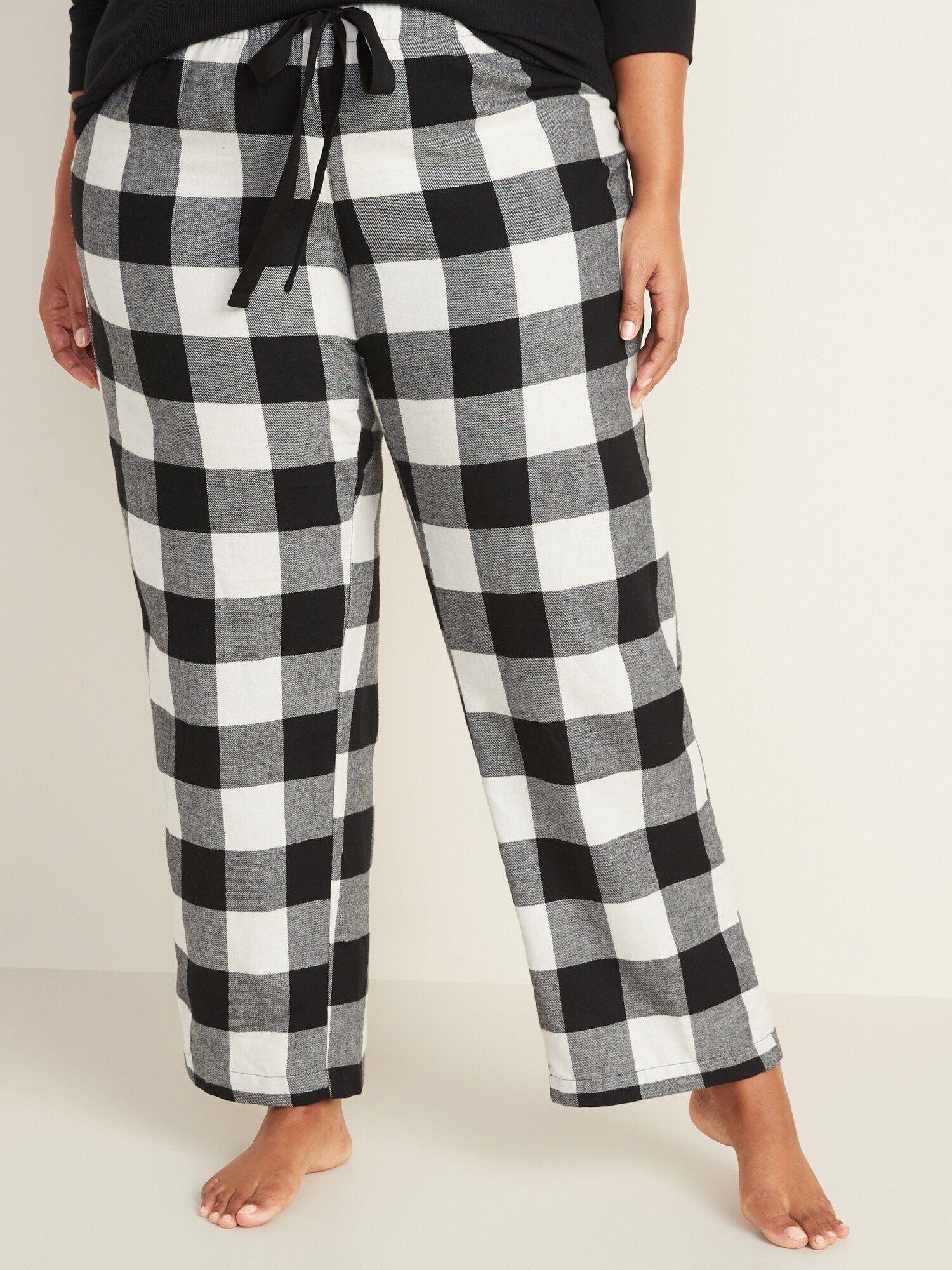 Patterned Flannel PlusSize Pajama Pants Plus size