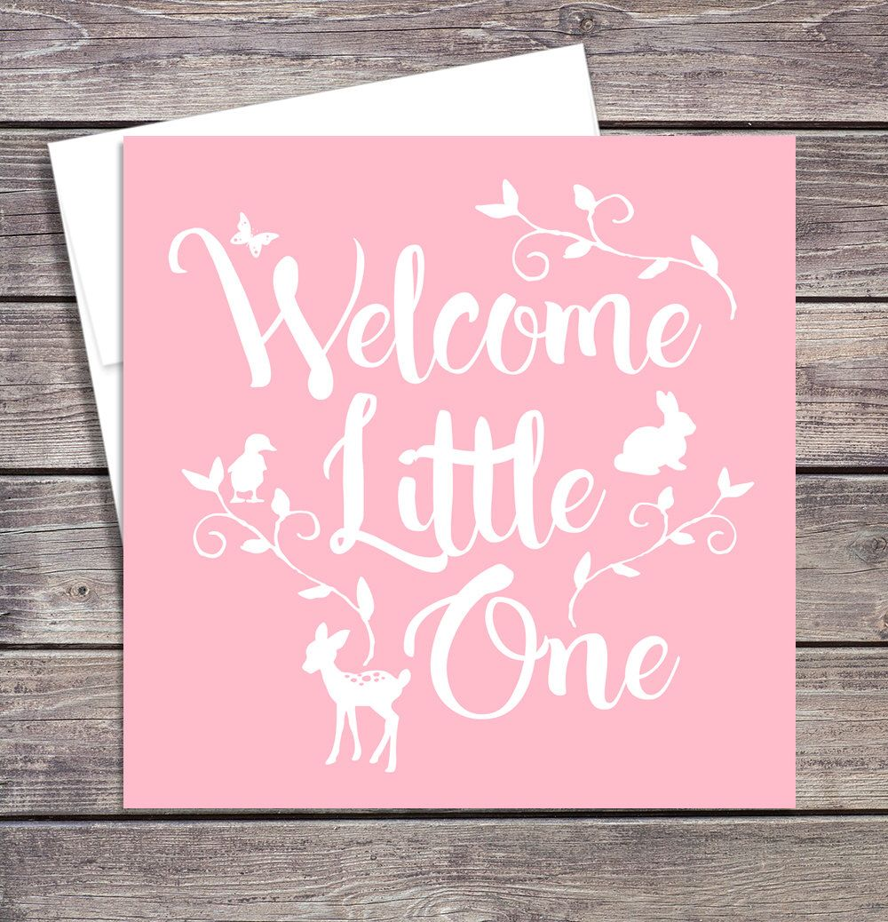 Baby welcome card welcome baby card baby shower card welcome baby welcome card welcome baby card baby shower card welcome baby girl new baby greeting card by papalotepaper on etsy m4hsunfo