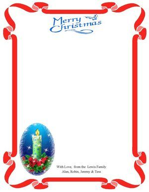 christmas clip art borders | Christmas Border set template card ...