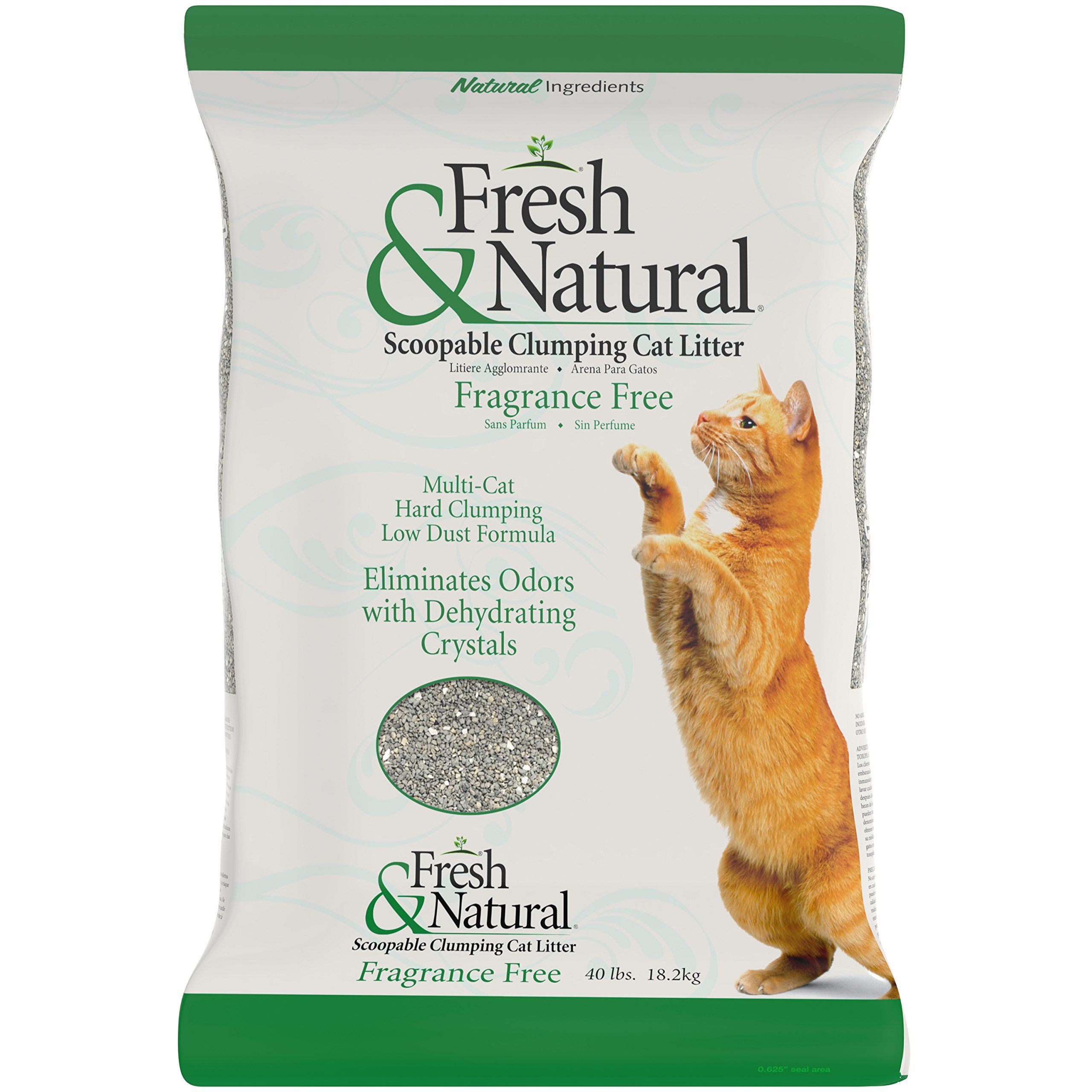 Fresh and Natural Scoopable Clay Cat Litter 40Pound