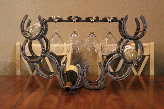 Metal Wine Glass Holder: SALE Wine Rack. WIne Holder. Wine Glass By