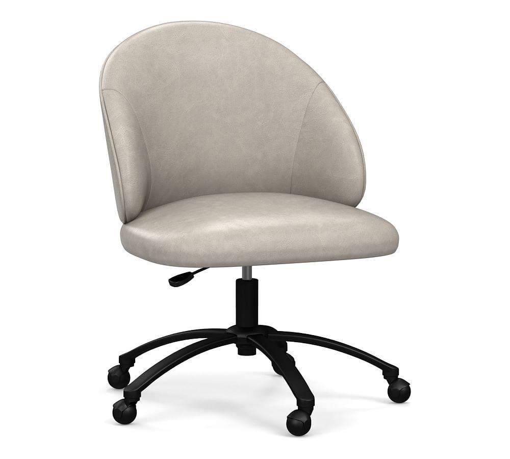 ryker leather swivel desk chair in 2019 products chair desk rh pinterest com