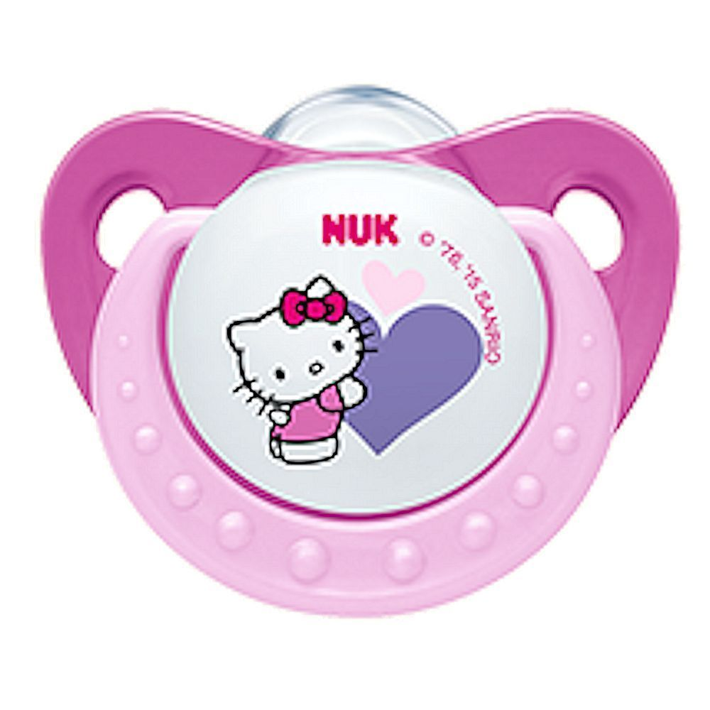 Nuk Hello Kitty Soother Pacifier 6 18 Months Bpa Free Silicone 0199 Philips Avent 2 Pack Orthodentic 18m Pink