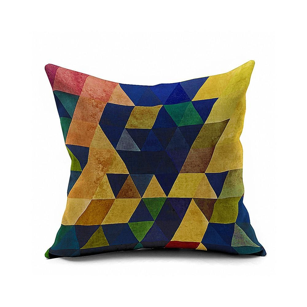 Cotton Flax Pillow Cushion Cover Geometry    JH018 - 8PS