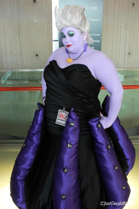cosplay plus size ursula the little mermaid disney costume convention diy sewing