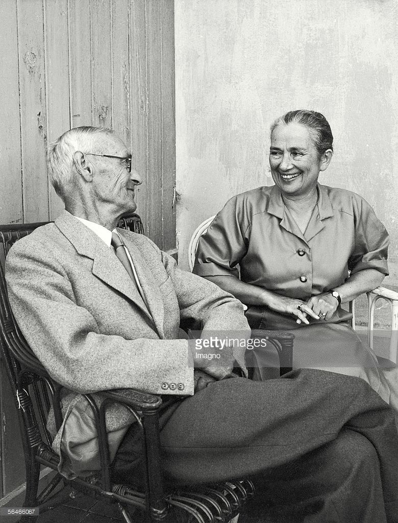 Hermann Hesse And His Wife German Author Winner Of The Nobel