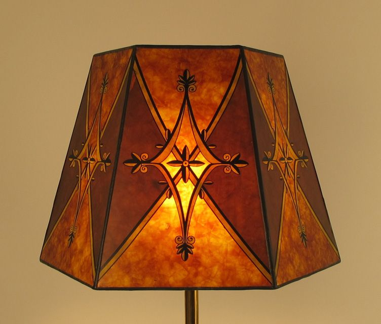 Mica Lamp Shade Awesome Mica Lampshade With Decorative Overlay  For The Home  Lighting Decorating Inspiration