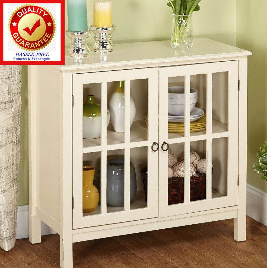buffet glass door wood buffet kitchen cabinet antique white rh pinterest es