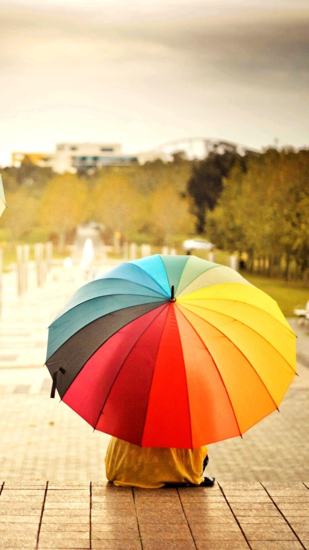 Wallpaper iphone umbrella - Colorful Umbrellas Kids Rainbow Weather Mood Iphone 6 Plus Wallpaper